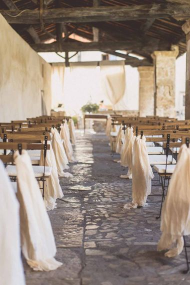 Italian Wedding Ceremony // Rustic Luxe Wedding In Tuscany Styled By The Wedding Of My Dreams With Flowers By Passion For Flowers Anna Campbell Bride Images & Film From WE ARE // THE CLARKES