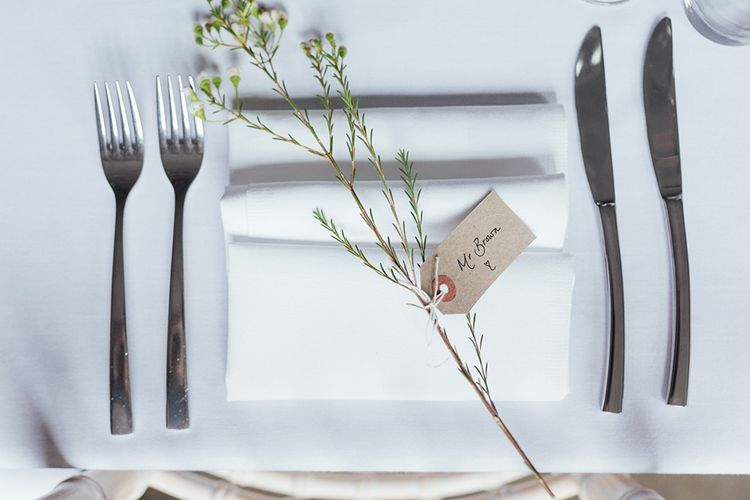 Simple Place Setting For Wedding