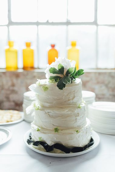 Wedding Cake With White Buttercream Icing