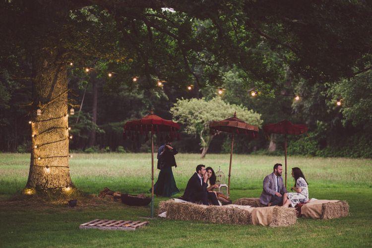 Stylish Outdoor Seating Area Wedding