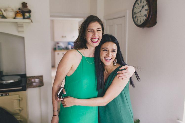 Bridesmaids in Emerald Green