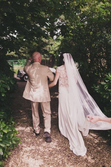 Bride With Cathedral Length Veil