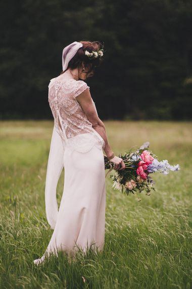 Bride in Laure De Sagazan Separates