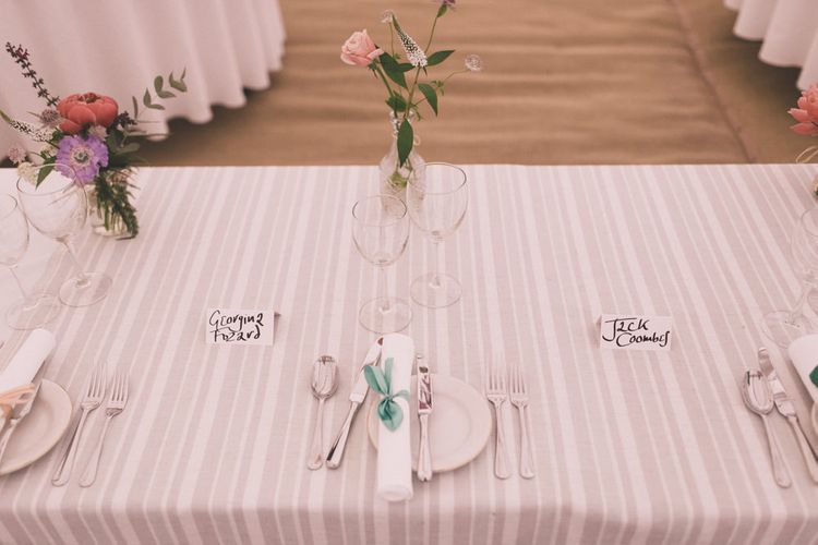 Striped Table Cloths For Wedding