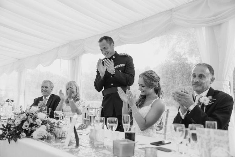 Speeches   Pastel Pink Marquee Wedding   Natalie J Weddings Photography