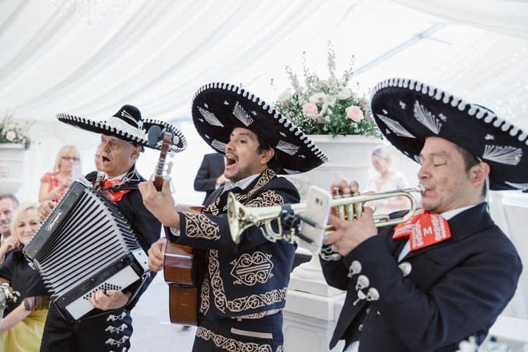 Mariachi Band   Pastel Pink Marquee Wedding   Natalie J Weddings Photography