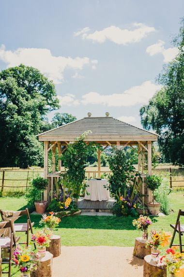 Outdoor Wedding Ceremony Aisle & Altar