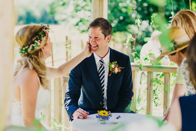 Outdoor Wedding Ceremony at Shillingstone House, Dorset