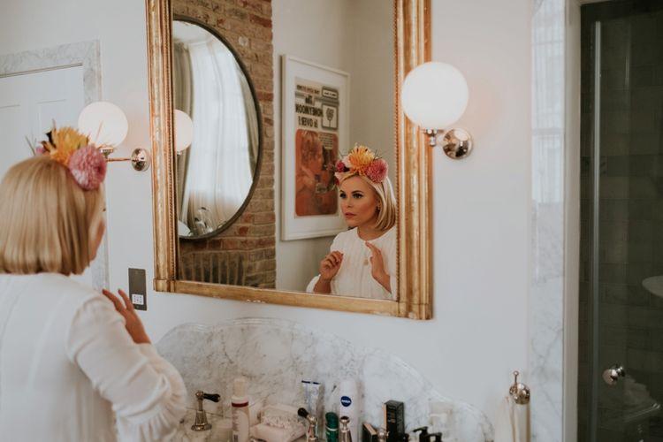 Bride Getting Ready For Wedding Day