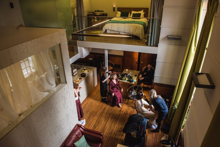 Wedding Morning Bridal Preparations | Vintage Wedding at The Asylum & Town hall Hotel London | Kevin Fern Photography
