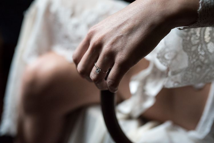 Diamond Engagement Ring | Vintage Wedding at The Asylum & Town hall Hotel London | Kevin Fern Photography