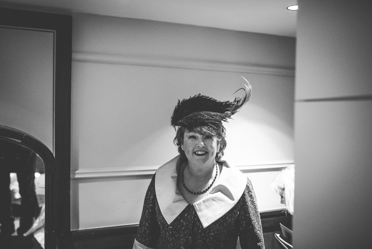 Wedding Guest Hat | Vintage Wedding at The Asylum & Town hall Hotel London | Kevin Fern Photography