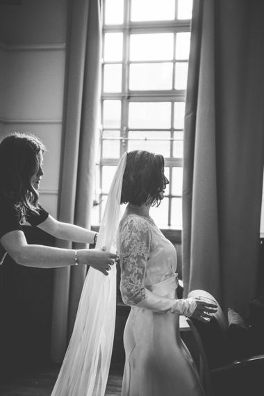 Wedding Morning Bridal Preparations | Story of My Dress Bridal Gown | Vintage Wedding at The Asylum & Town hall Hotel London | Kevin Fern Photography