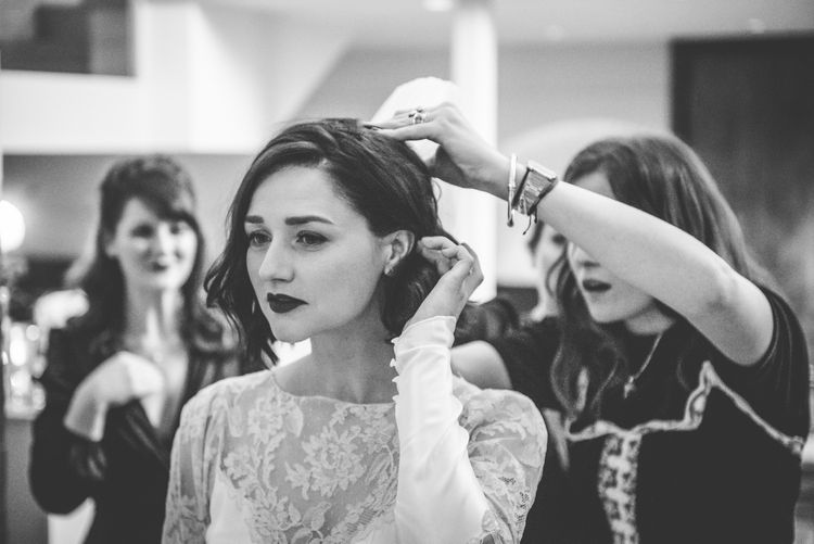 Vintage Bridal Makeup | Vintage Wedding at The Asylum & Town hall Hotel London | Kevin Fern Photography