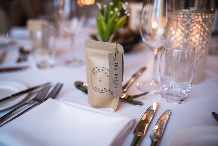 Rustle & Rowe Coffee Wedding Favour | Vintage Wedding at The Asylum & Town hall Hotel London | Kevin Fern Photography