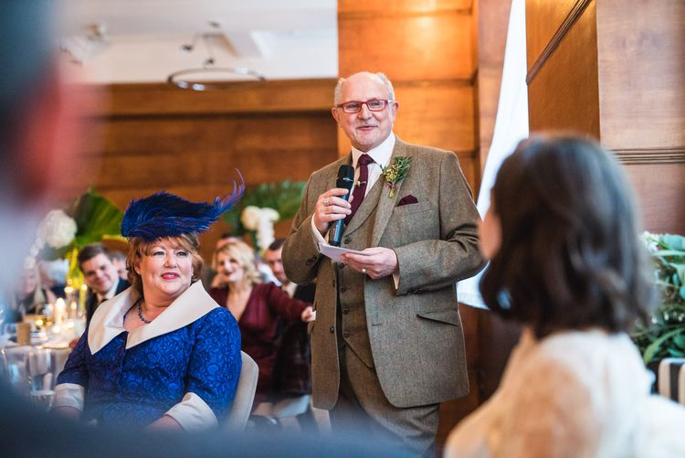 Wedding Speeches | Vintage Wedding at The Asylum & Town hall Hotel London | Kevin Fern Photography
