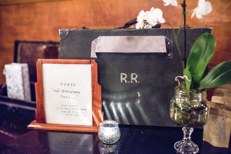 Vintage suit Case Wedding Decor | Vintage Wedding at The Asylum & Town hall Hotel London | Kevin Fern Photography
