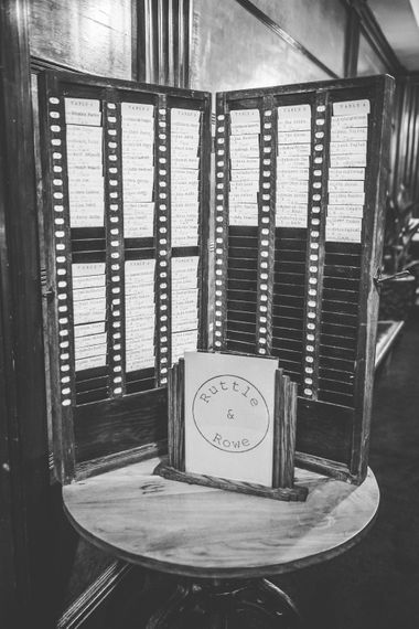 Clocking in Card Table Plan | Vintage Wedding at The Asylum & Town hall Hotel London | Kevin Fern Photography