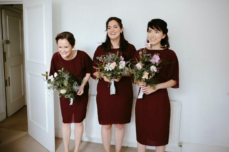 Burgundy Reiss Bridesmaid Dresses