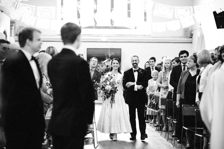 Bridal Entrance in Delphine Manivet Prospere Wedding Dress