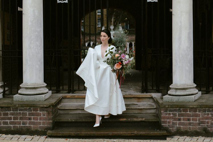 Elegant Bride in Delphine Manivet Prospere Wedding Dress