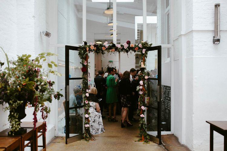Floral Garland Entrance to St JOHN Bar & Restaurant