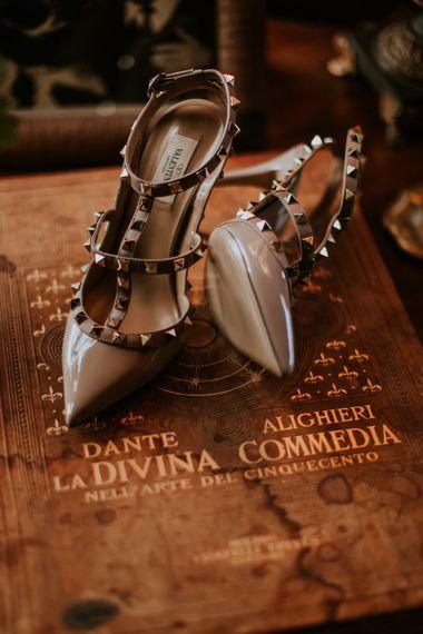Valentino Rock Stud Bridal Shoes | D&A Photography | Ben Walton Films