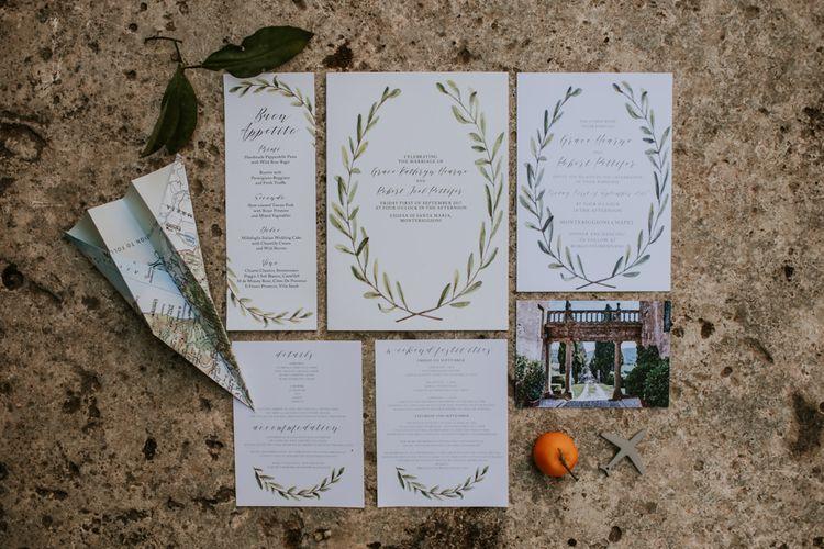 Work and Turn Design Laurel Wedding Stationery | D&A Photography | Ben Walton Films