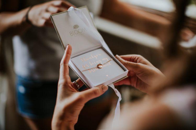Bridesmaid Gift Bridal Preparations | D&A Photography | Ben Walton Films