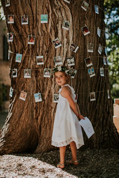 Tree wrapped in Polaroid Pictures | Wedding Decor | D&A Photography | Ben Walton Films