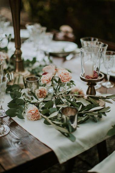 Elegant Tablescape | Tuscan Wedding Planned by Romeo & Juliet Weddings | D&A Photography | Ben Walton Films