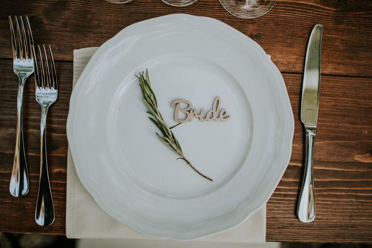 Elegant Place Setting | Tuscan Wedding Planned by Romeo & Juliet Weddings | D&A Photography | Ben Walton Films