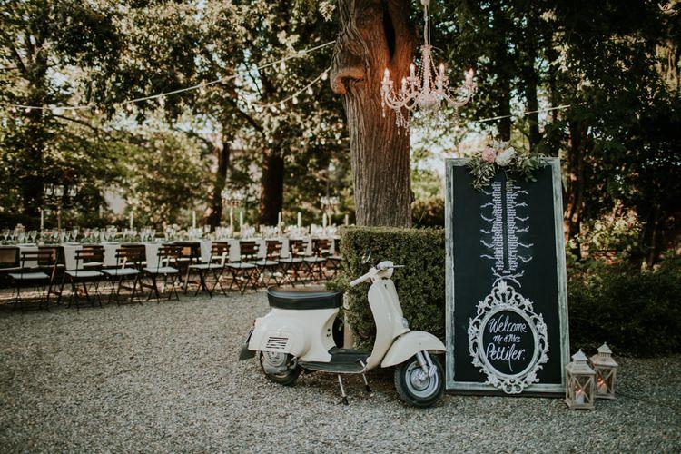 Elegant Outdoor Wedding Reception | Tuscan Wedding Planned by Romeo & Juliet Weddings | D&A Photography | Ben Walton Films