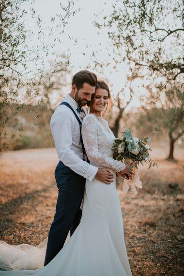Bride in Morgan Davies Gown | Groom in Suit Supply | D&A Photography | Ben Walton Films