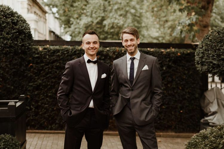 Groom In Tux For Elegant Intimate Town House Wedding Image By The Curries