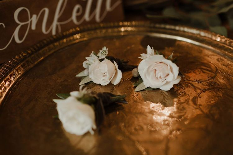 Rose Buttonholes For Wedding Image By The Curries
