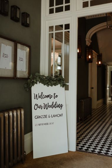 Welcome Sign By The Golden Letter Image By The Curries
