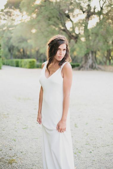Bride in Charlie Brear   Greenery on the French Riviera   Purewhite Photography   D'amour et de deco Styling