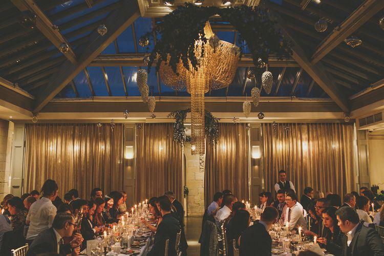 Wedding Breakfast // Wedding Venue For Foodies Hampton Manor Hampton In Arden // Exclusive Use Wedding Venue With Michelin Star Restaurant Food Lovers Wedding