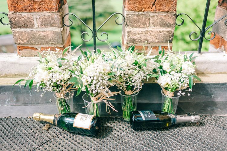 Gypsophila & White Rose Wedding Bouquets