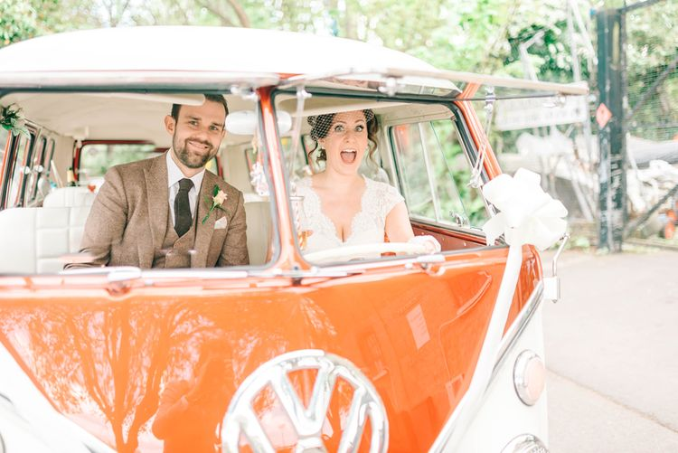 Vintage VW Camper Van For Wedding