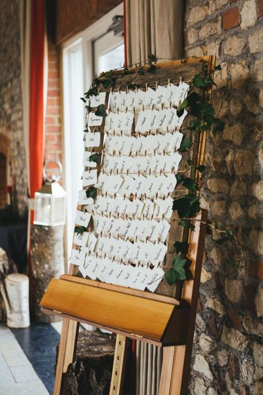 Rustic Table Plan For Winter Wedding