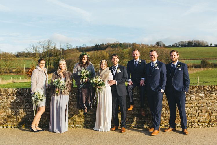 Hygge Inspired Wedding With Bride In Self Portrait Dress At Farbridge Sussex