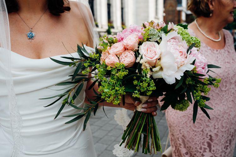 Blush Pink Rose & Peony Bridal Bouquet | Marianne Chua Photography