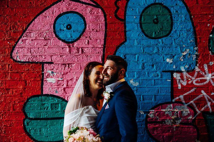 Bride in Halfpenny Separates | Groom in Yardsmen Suit | Urban Wedding at Village Underground, London | Marianne Chua Photography