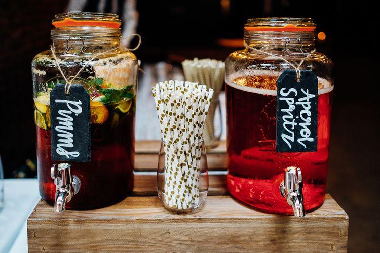 Drinks Dispensersr | Urban Wedding at Village Underground, London | Marianne Chua Photography