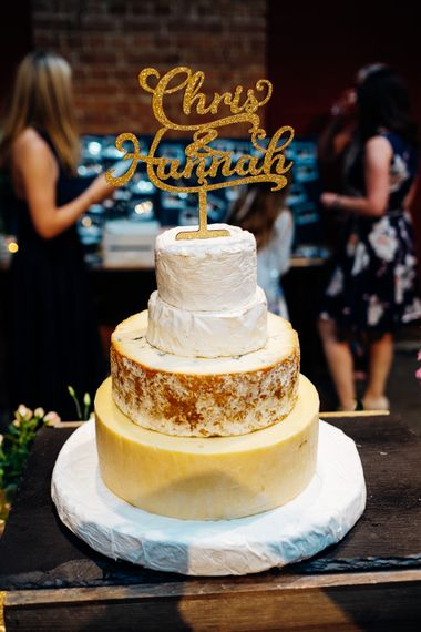 Cheese Tower Wedding Cake | Urban Wedding at Village Underground, London | Marianne Chua Photography