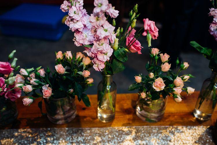 Brightly Coloured Stocks & Spray Roses Wedding Decor | Urban Wedding at Village Underground, London | Marianne Chua Photography