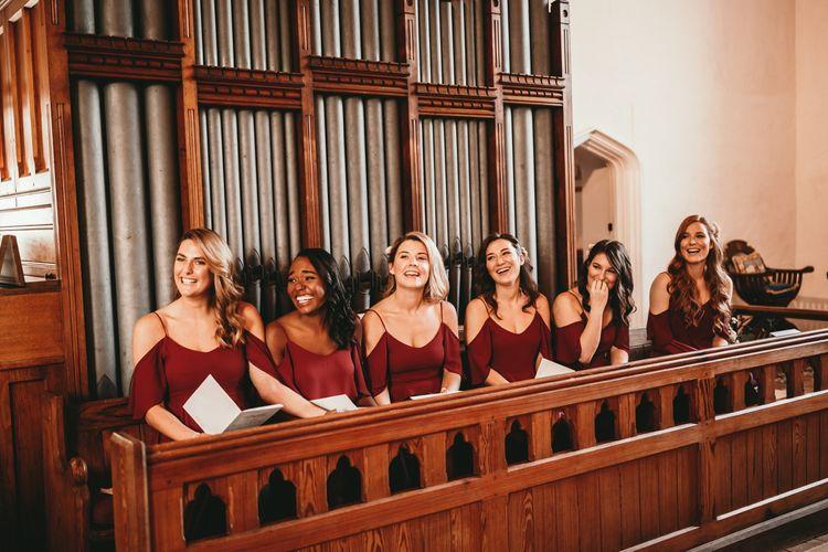 Bridesmaids In Rewritten Dresses