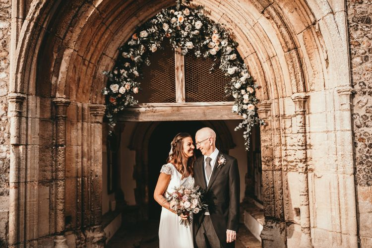 Floral Arch on Church